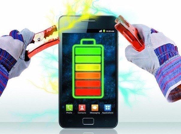 Как включить телефон, если села батарея?