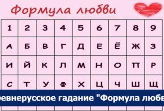 """Древнерусское гадание """"Формула любви"""""""