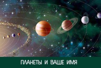 Какой планете соответствует Ваше имя и что это значит