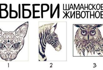 Выбери шаманское животное