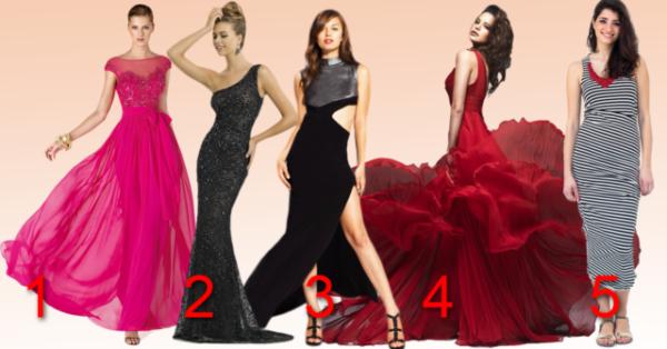 Тест для леди! Выберите платье и узнайте о себе кое-что интересное!