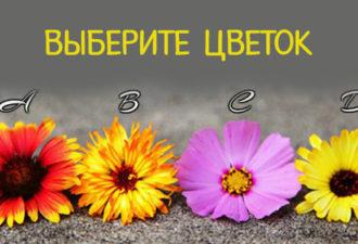Выберите цветок и получите мощное послание!