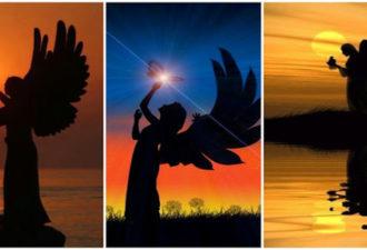 Выберите ангельский силуэт и получите свое послание!