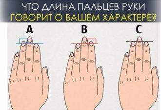 Что длина пальцев руки говорит о вашем характере?
