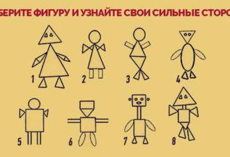 Выберите фигуру на рисунке и узнайте свои сильные стороны
