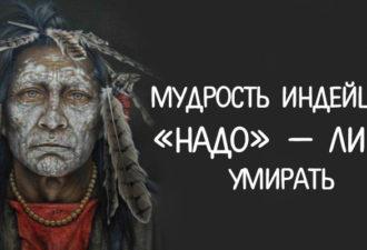 МУДРОСТЬ ИНДЕЙЦЕВ: «НАДО» — ЛИШЬ УМИРАТЬ