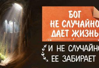 Бог не случайно дает жизнь и не случайно ее забирает